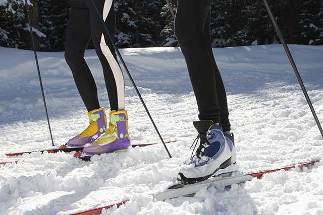 Wintersport, Schweiz, Goms, Ski fahren, Langlauf, Sporthotel